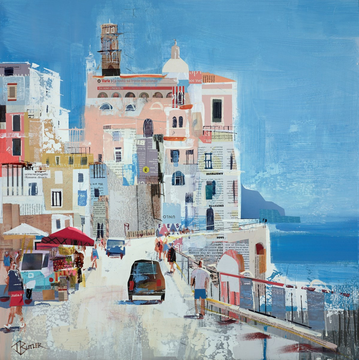 Summer Sun, Atrani by tom butler -  sized 24x24 inches. Available from Whitewall Galleries